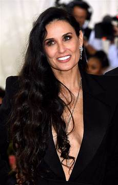 demi moore attending the metropolitan museum of art