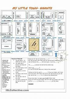 esl worksheets on directions 11836 giving directions prepositions of place places in a town direcciones en ingles ense 241 anza de