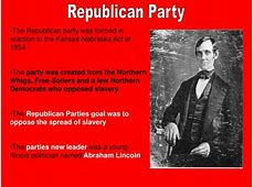 detailed change in republican party since 1850