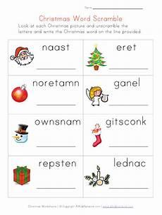 la escuela de ingles de christmas word scramble