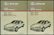 car repair manuals online pdf 2000 lexus sc instrument cluster 2000 lexus sc 300 400 repair manual 2 volume set sc300 sc400 shop service oem ebay