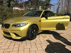 yellow bmw m2 michael fux s 1 of 1 yellow bmw m2 priced at 100 000