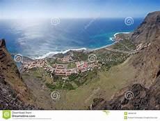 la gomera aerial view of valle gran stock photo