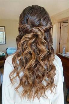 30 chic half up half down bridesmaid hairstyles h a i r wedding hair down prom hair hair