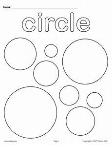 Simple Circle Coloring Pages Free Circles Coloring Page Circle Shape Worksheet Supplyme