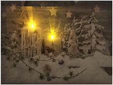 led bild weihnachten winterwelt mit 2 flackernden led 180 s