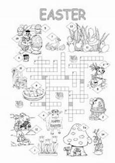english worksheets easter crossword