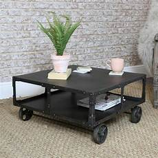 industrial coffee tables with wheels industrial metal coffee table on wheels melody maison 174