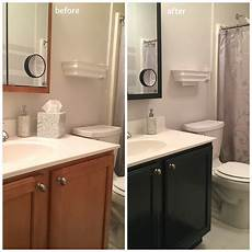ideas for painting bathroom cabinets in an afternoon i updated the color of my s bathroom vanity cabinet