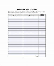 sle employee sign in sheet 17 free documents download in word excel pdf
