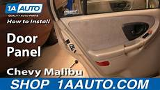 how to install repair replace rear door panel buick lesabre 00 05 1aauto com youtube how to remove rear door panel 97 03 chevy youtube