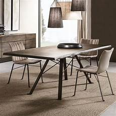 Modern Wooden Italian Rectangular Dining Table Set