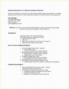 8 resume sle for high school students with no experience free sles exles format