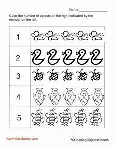 kidz worksheets preschool count color worksheet5