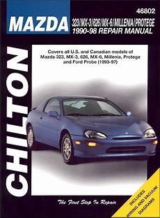 free service manuals online 1993 mazda miata mx 5 transmission control 323 mx3 626 mx6 millenia 1990 1998 probe 1993 1997 repair manual
