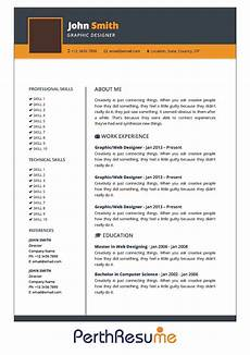 resume template 1 perth resume