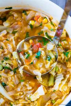 vegetarian cabbage soup recipe chefdehome