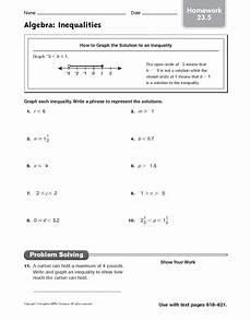 algebra worksheets inequalities 8439 algebra inequalities worksheet for 5th 6th grade lesson planet