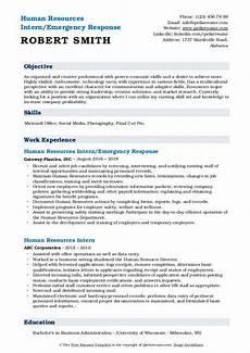 human resources intern resume sles qwikresume