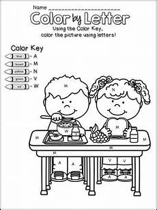 letter color worksheets 23037 back to school color by letter worksheets by kindermolly tpt