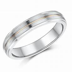4mm silver 9ct rose gold matt polished wedding ring silver 9ct gold two tone at elma uk