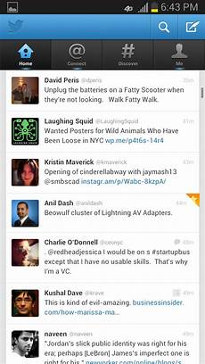 twiter mobile screenshots mobile patterns