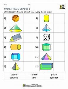 3d shapes worksheet early years 1107 3d shapes worksheets 2nd grade