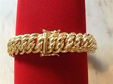 bracelet maille americaine or 750 18 carats www