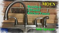 moen kitchen faucet installation how to install a moen kitchen faucet with side sprayer