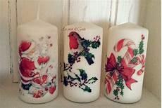 candele decorate per natale candele natalizie decorate con trasferimento di immagine