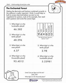 decimal subtraction worksheets 4th grade 7297 quot the enchanted forest quot 4th grade math worksheets jumpstart 4th grade math worksheets decimals