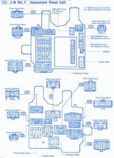 1993 Toyotum Camry Engine Fuse Box Diagram by Toyota Camry Le 1998 Instrument Cluster Fuse Box Block
