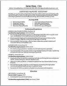 check out this sle of a cna resume resumes are vital to getting a certified nursing