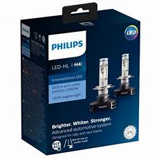 H4 Philips X Treme Ultinon Led 12v Headlight Bulbs Pair