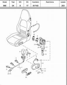 2001 porsche boxster parts diagram wiring schematic seat stuck can t change angle 986 forum for porsche boxster cayman owners