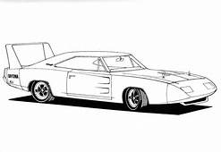 Fast And Furious Coloring Pages Daytona Charger  Cars