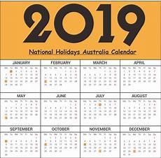 2019 calendar with holidays usa uk canada australia