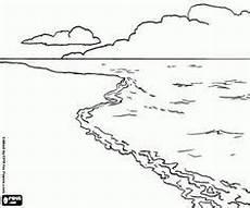 malvorlagen landschaft mit strand meer und wolken