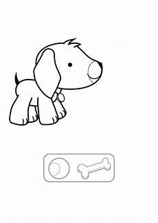 malvorlagen hunde quiz kostenlose malvorlage hunde welpe und knochen ausmalen