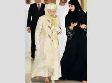 Hijabi princess with queen Elizabeth.   Muslimah dress