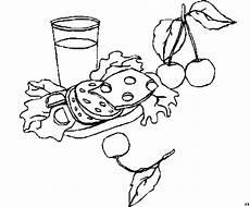 belegtes brot ausmalbild malvorlage essen und trinken