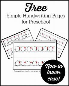 homeschool handwriting worksheets 21410 simple handwriting pages for preschool now in lowercase