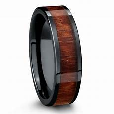 wedding band crafted with black high tech ceramic