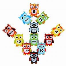 new arrive wooden color digital owl stacking toys children s blocks balancing blocks mg107 in