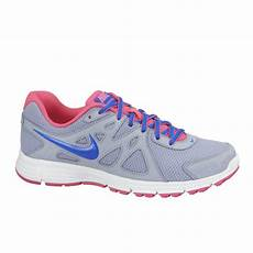 nike s revolution 2 running shoes grey blue pink