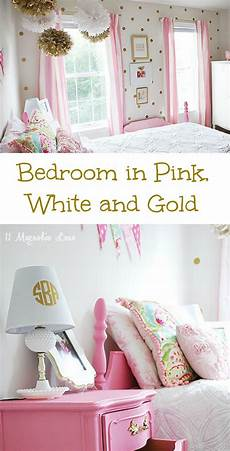 White Pink And Gold Bedroom Ideas by S Room In Pink White Gold Decor Pink White