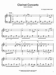 slow movement theme from clarinet concerto k622 sheet music by wolfgang amadeus mozart easy