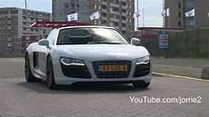 audi r8 v10 spyder sound downshift 1080p hd
