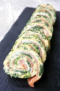 low carb spinat lachs rolle zum silvesterbuffet oder