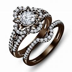 chocolate wedding ring 1 1 2 ct simulated diamond chocolate color 925 silver